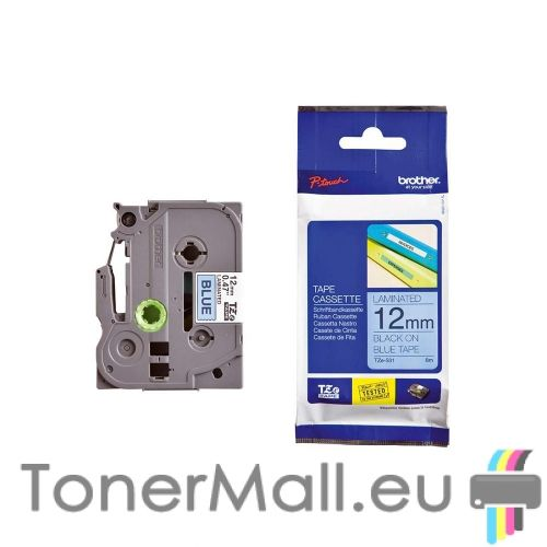 Tape Black on Blue Brother TZ-531