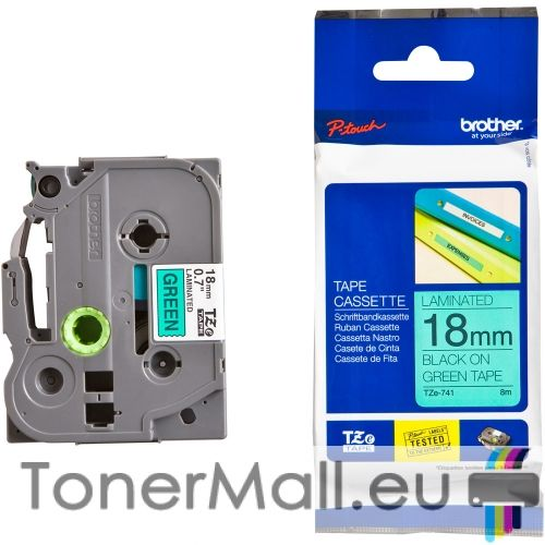 Tape Black on Green Brother TZ-741