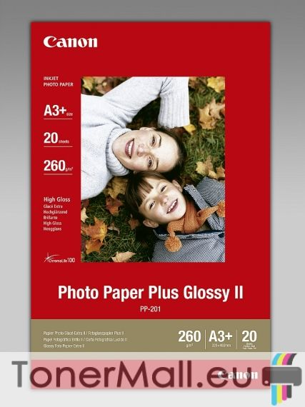 Canon Plus Glossy II PP-201, A3+, 20 sheets