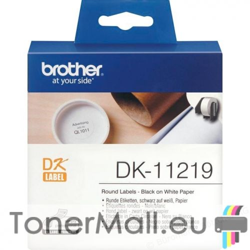 """Round Paper 1/2"""" label Brother  DK-11219"""
