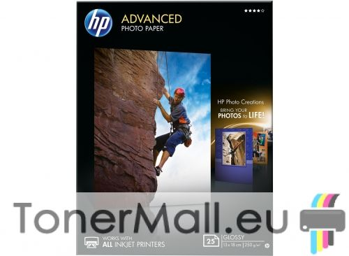 HP Advanced Glossy Photo Paper - 25 sheets / 13 x 18 cm, borderless