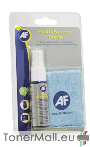 AF XMCA25MF Спрей за почистване на смартфони и таблети с микрофибърна кърпа