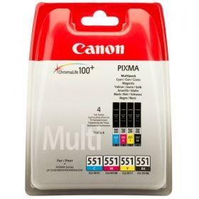 Комплект оригинални мастилени касети Canon CLI-551 CMYB Multipack