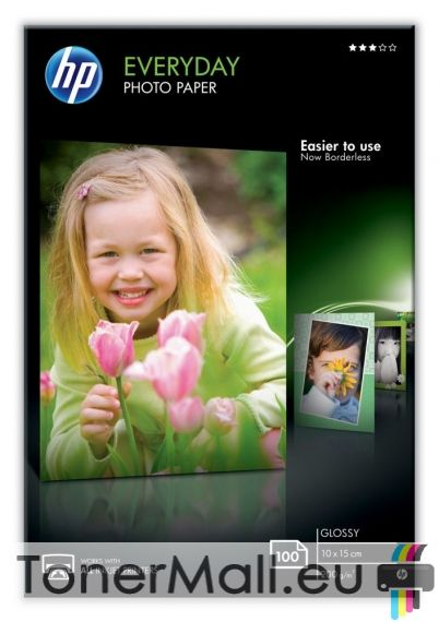 HP Everyday Glossy Photo Paper-100 sht/10 x 15 cm