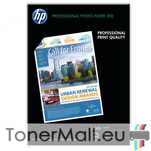 HP Professional Matt Laser Photo Paper - 100 sht/A4/210 x 297 mm