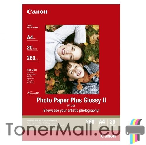 Canon Plus Glossy II PP-201, A4, 20 sheets