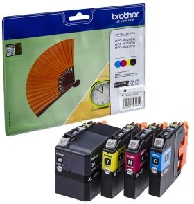 Комплект мастилени касети BROTHER LC129XL / LC125XL Value pack (Black/Cyan/Magenta/Yellow) LC129XLVALBP