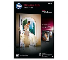 HP Premium Plus Glossy Photo Paper-20 sht/A3/297 x 420 mm (CR675A)