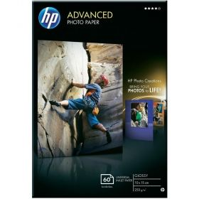 HP Advanced Glossy Photo Paper - 60 sht / 10 x 15 cm borderless (Q8008A)