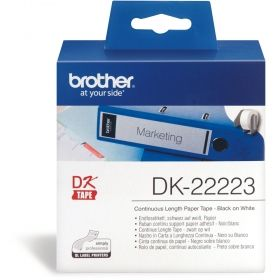 White Continuous Length Paper Tape Brother DK-22223