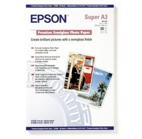 Фотохартия EPSON C13S041328 Premium Semigloss Photo Paper, DIN A3+, 251g/m2 (20 sheets)