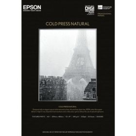 Фотохартия EPSON C13S042300 Cold Press Natural A3+ (25 sheets)