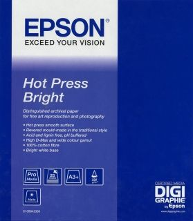 Фотохартия EPSON C13S042330 Hot Press Bright A3+ (25 sheets)