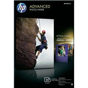 HP Advanced Glossy Photo Paper-25 sht/10 x 15 cm borderless (Q8691A)